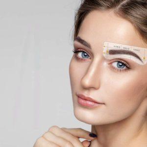 szablony PERFECT BROWS naklejki do stylizacji brwi, stylizacja brwi