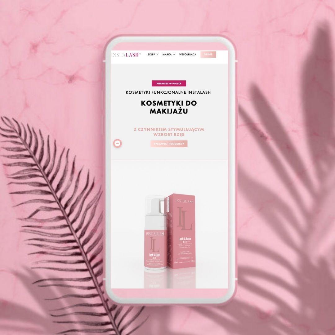 kosmetyki funkcjonalne instalash, odżywka do rzęs, serum, makijaż